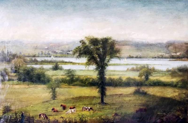 19th c. Original Oil by L. Otis