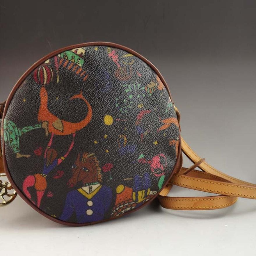 19d864e7e0 Piero Guidi Magic Circus Leather Shoulder Bag   EBTH