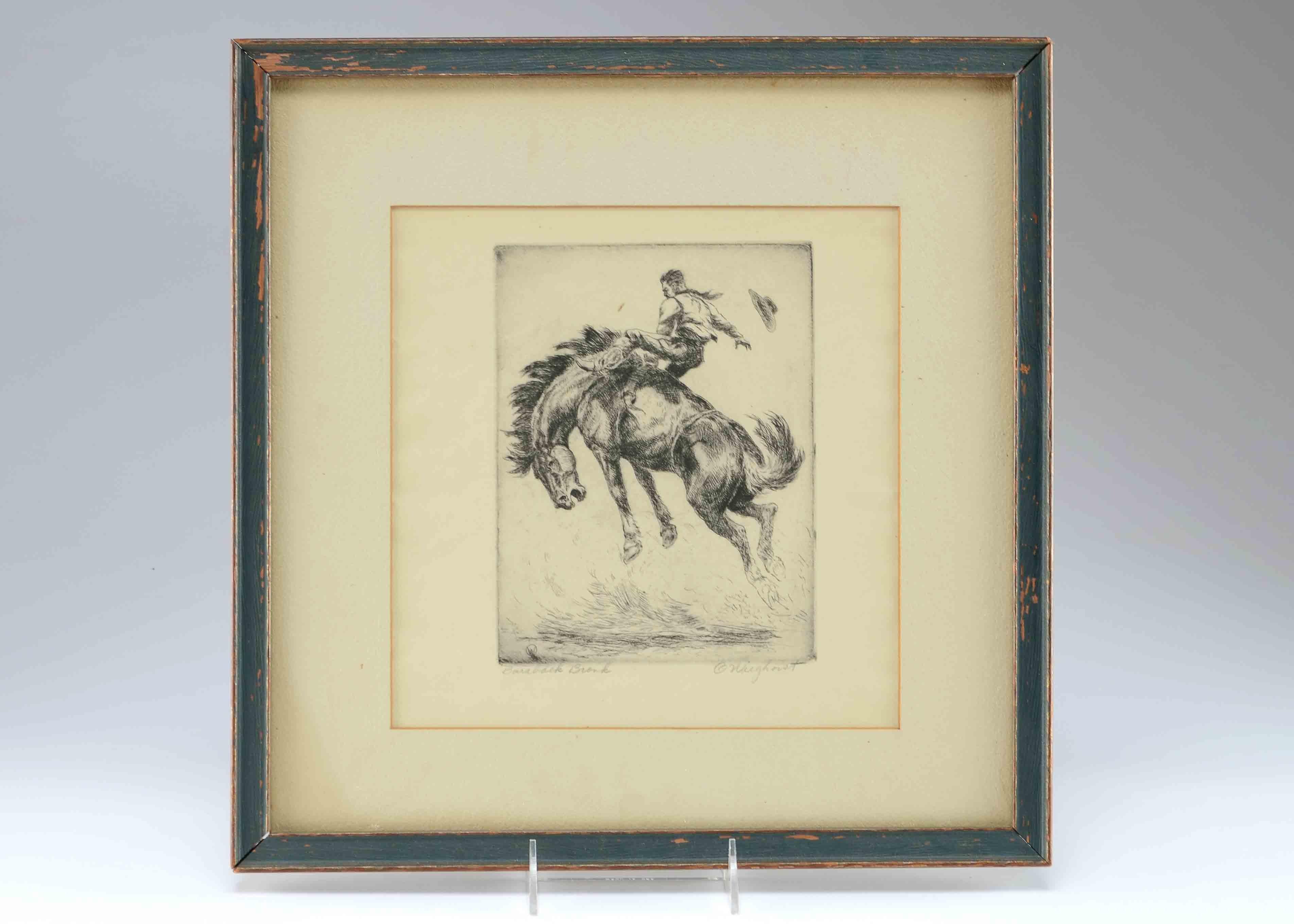 Olaf Carl Wieghorst (1899-1988) etching
