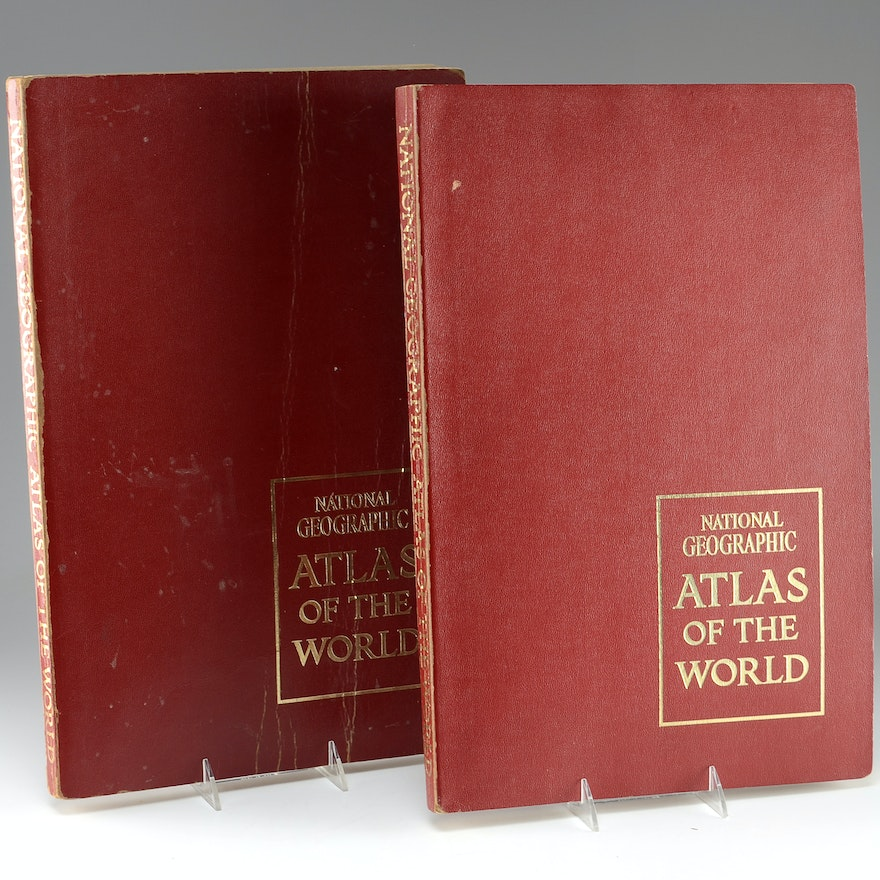 1963 1st Ed. National Geographic Atlas of the World