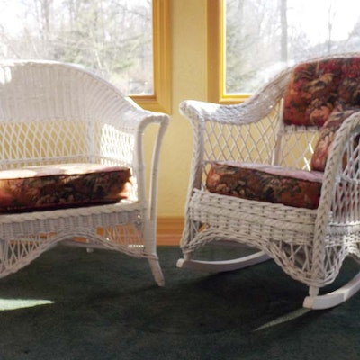 vintage rattan rocker vintage chairs antique chairs and retro chairs auction in madeira