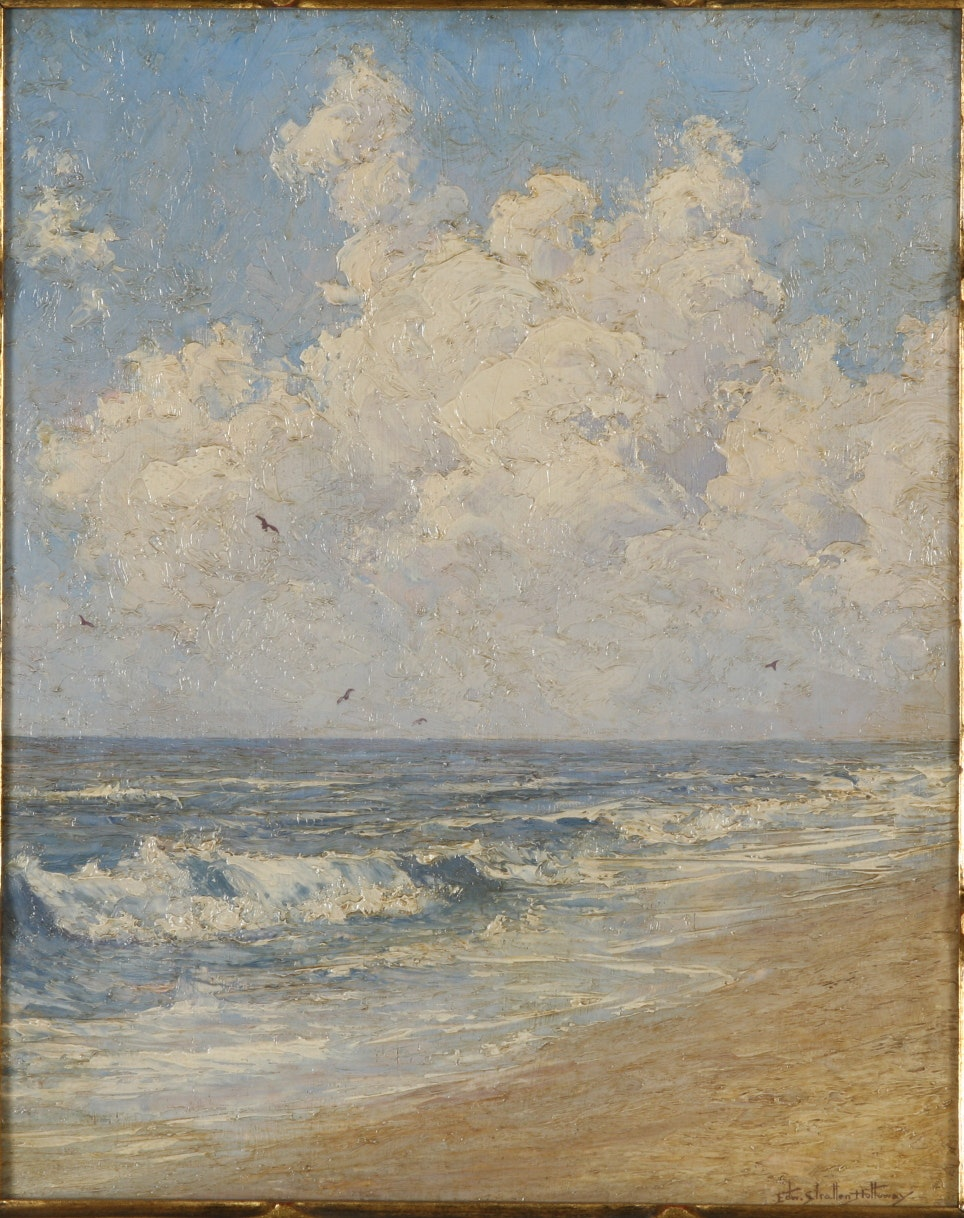 Edward Stratton Holloway oil on canvasboard seascape painting
