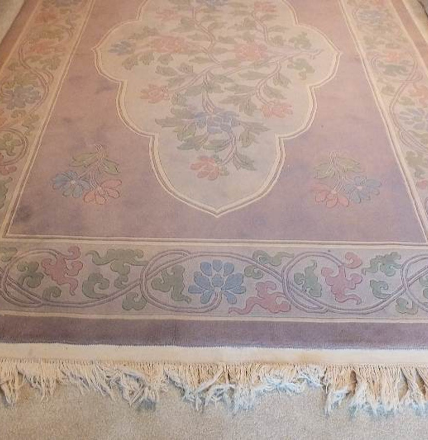 Hand Knotted Persian Style Wool Pile Area Rug: A Tian Tan 100 % Wool Pile Genuine Hand Knotted Oriental