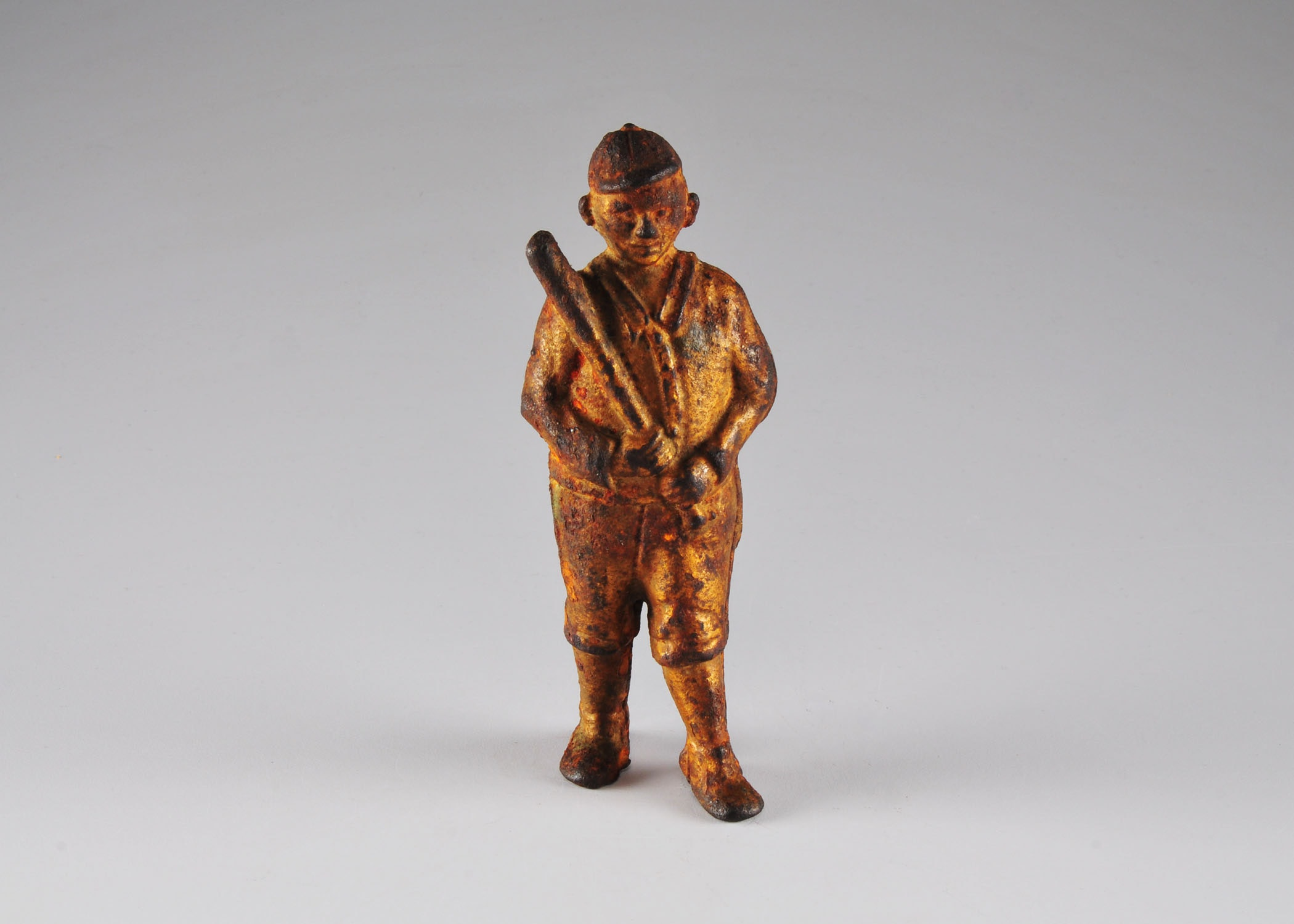 AC Williams Cast Iron Still Bank, Baseball Player