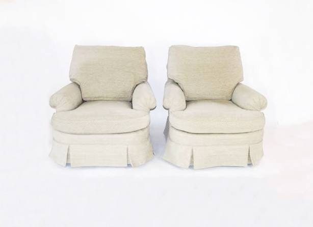Baker Furniture Upholstered Easy Chairs ...