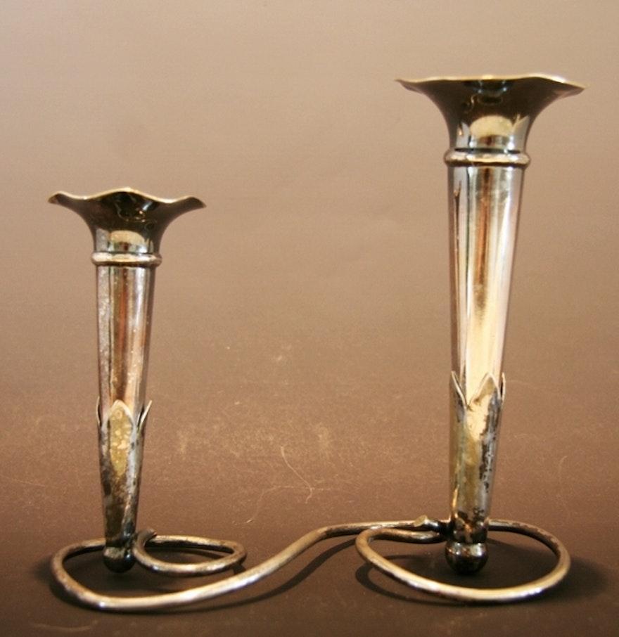 silver plate bud vase ebth. Black Bedroom Furniture Sets. Home Design Ideas