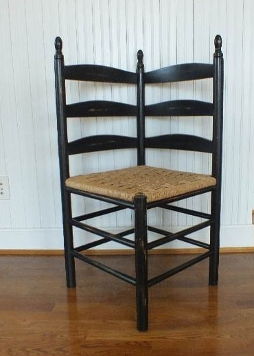 Ladder Back Corner Chair