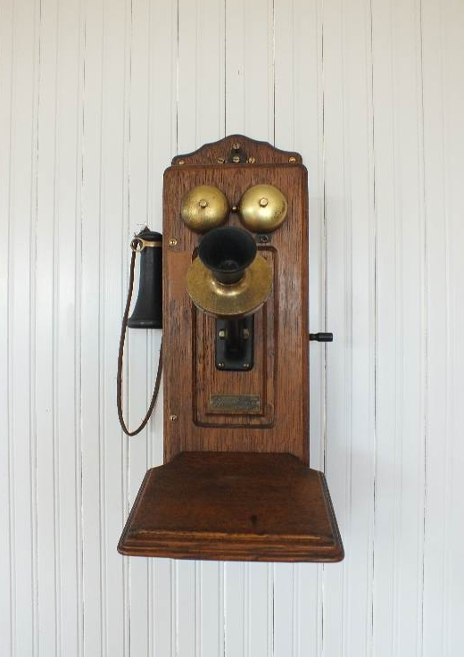 Antique Monarch Oak Wall Crank Telephone Antiques Complete Special Summer Sale