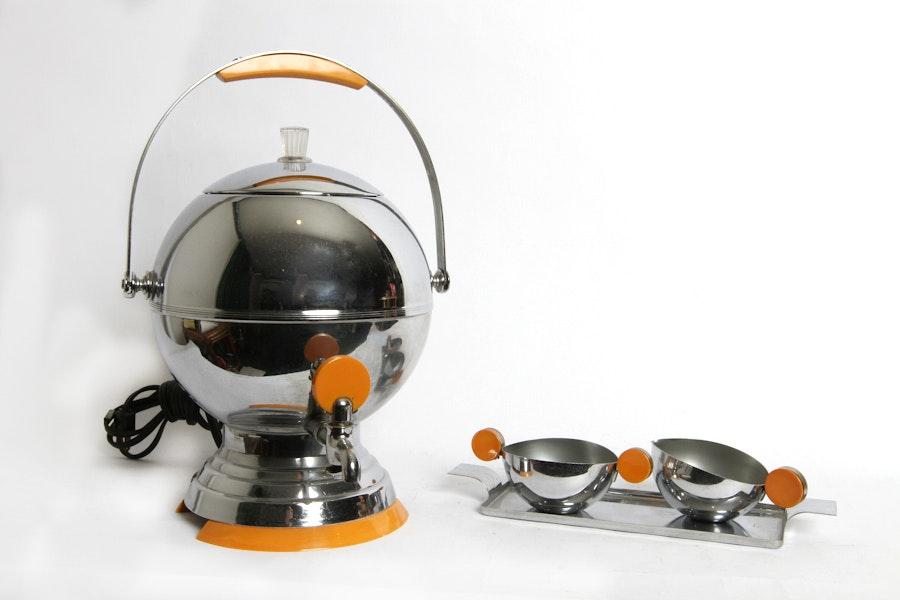 Art Deco Percolator Set