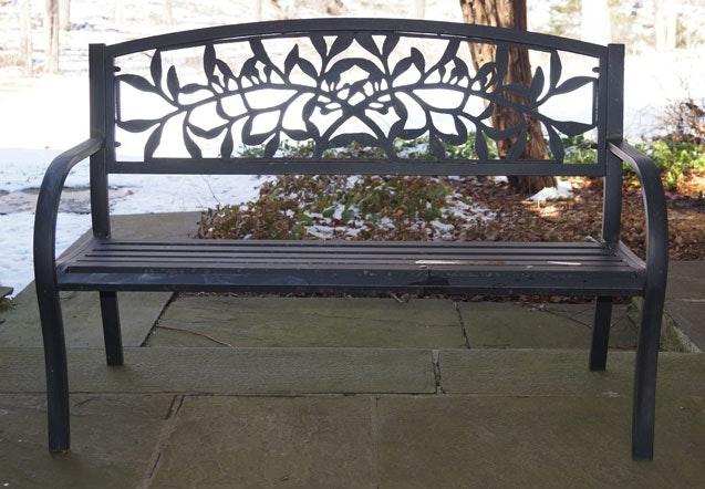 Black Garden Bench