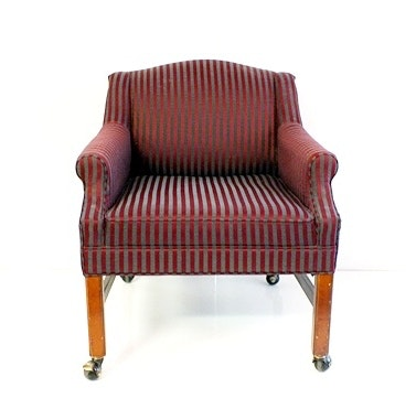 American Of Martinsville Furniture Co. Upholstered Low Back Arm Chair ...