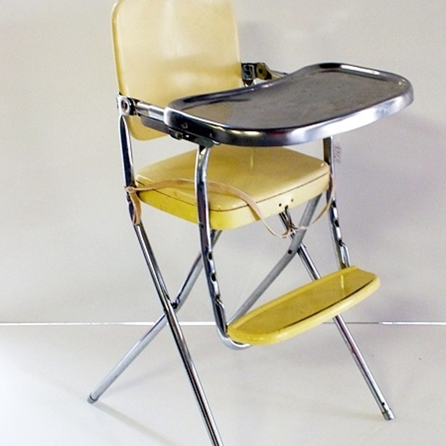 Excellent Vintage Cosco Folding Childs High Chair Creativecarmelina Interior Chair Design Creativecarmelinacom