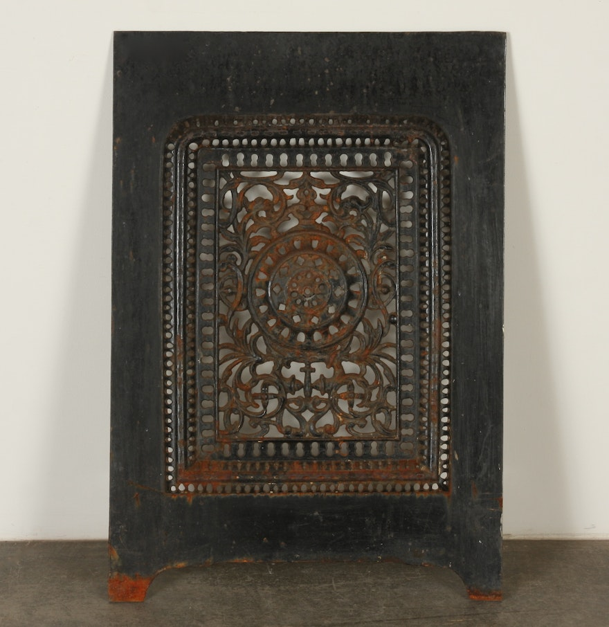 iron fireplace cover. Victorian Cast Iron Fireplace Summer Cover  EBTH