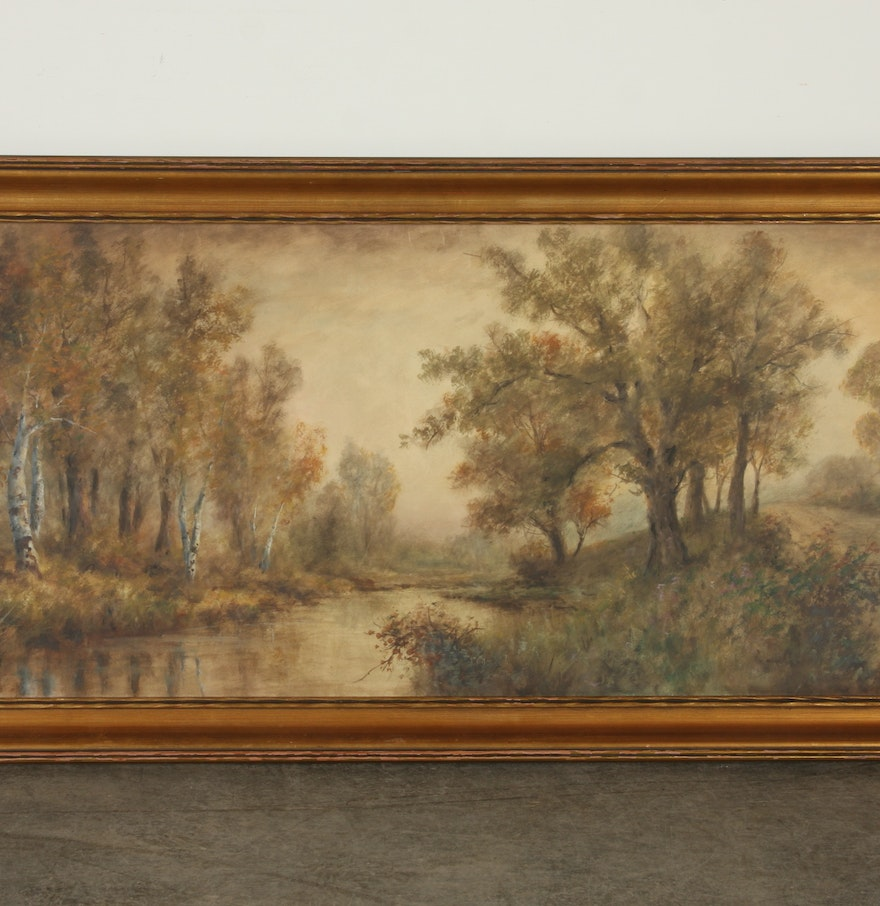Fine watercolor art for sale - G H Flavelle Watercolor On Paper Titled Autumn Glory