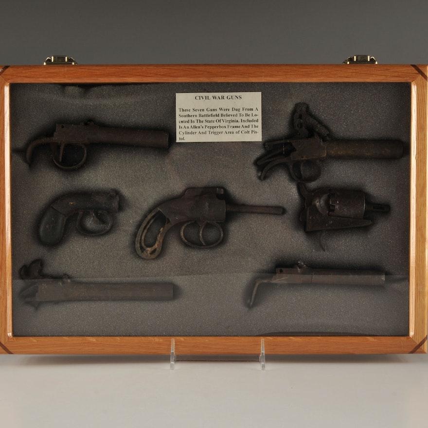 Excavated Civil War Gun Relics