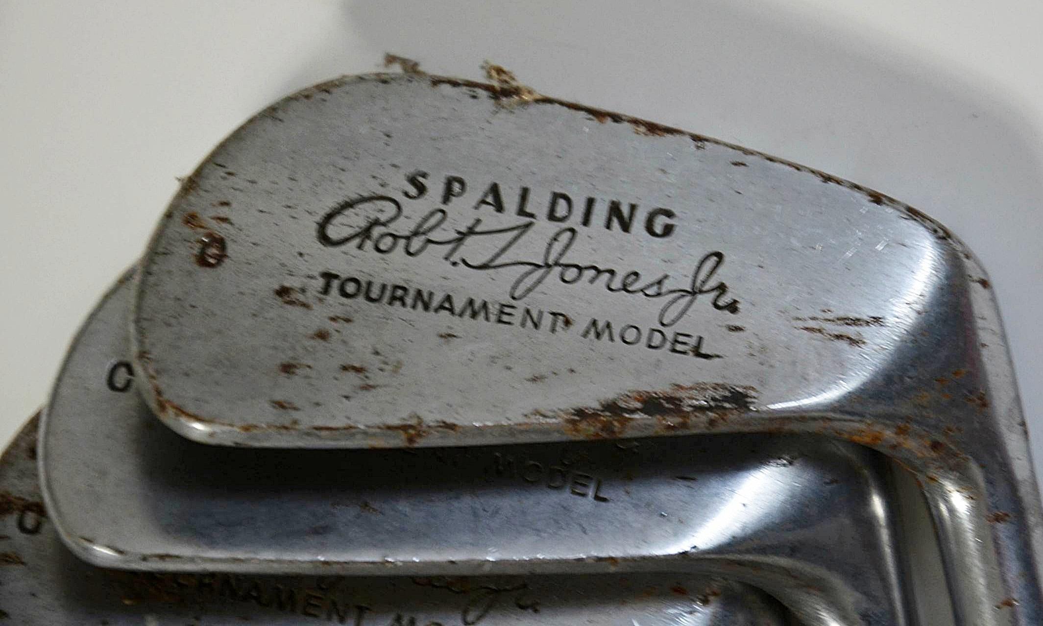 Circa 1950 S Spalding Robert T Jones Jr Golf Club Set