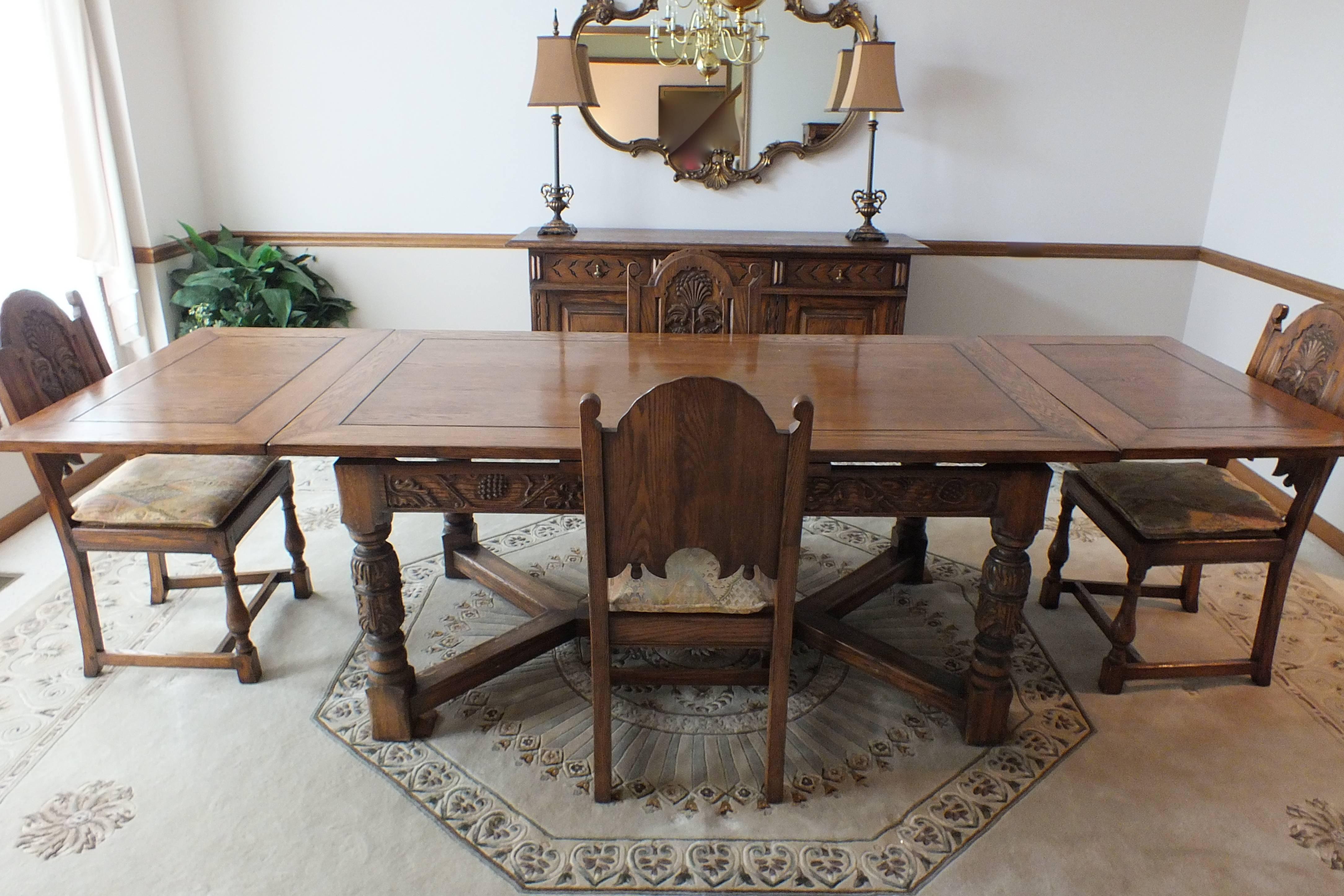 Jamestown Lounge Feudal Oak Dining Set ...