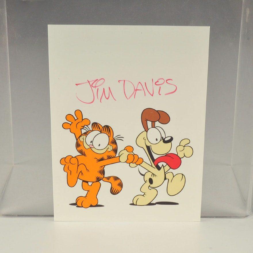 Garfield Characters Autographed By Jim Davis Ebth
