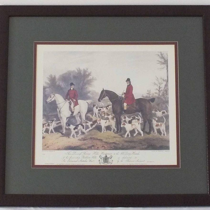A Pair of Framed R.B. Davis Hunting Prints : EBTH
