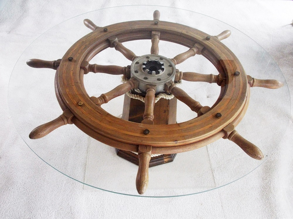Ships Wheel Coffee Table Ebth
