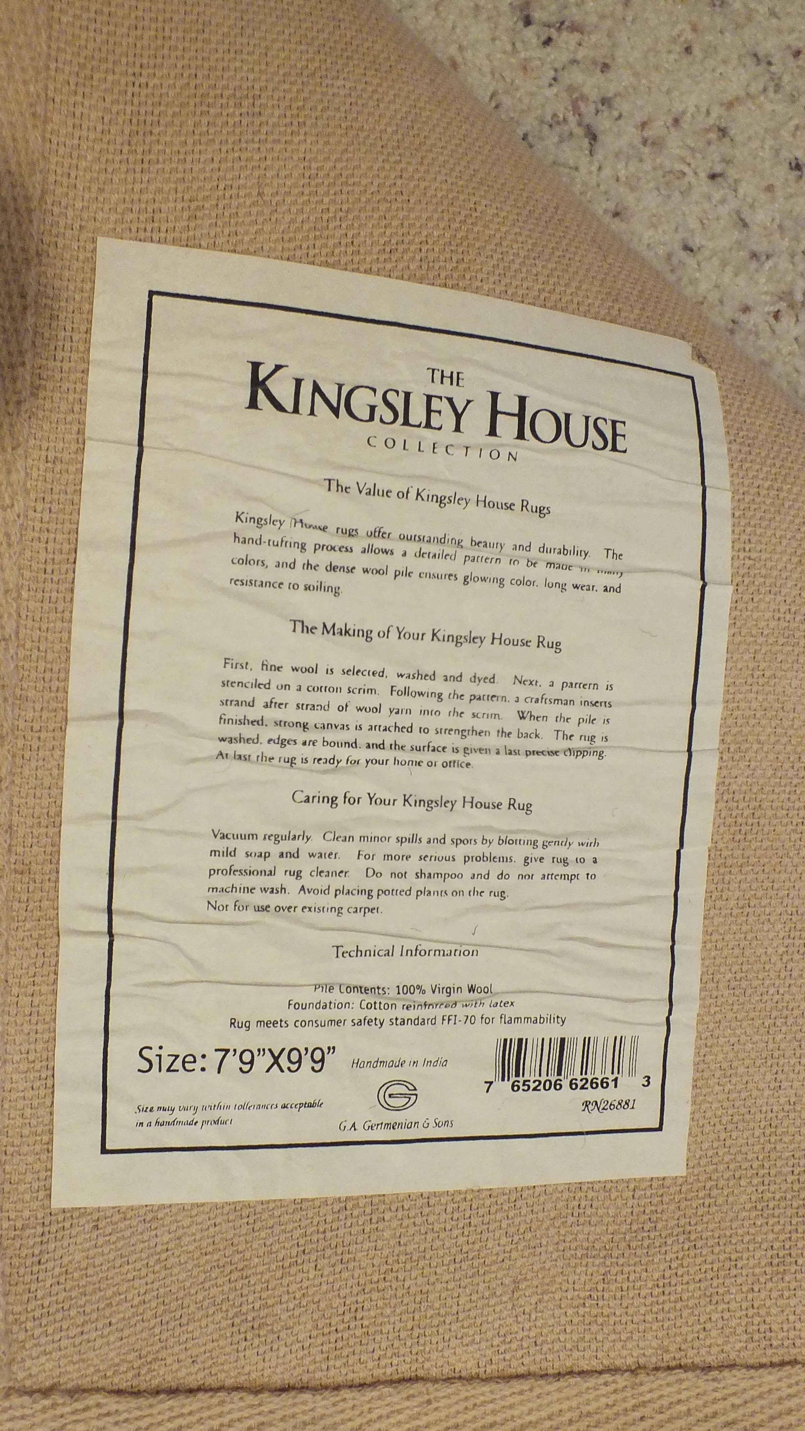 Kingsley House Area Rug Ebth