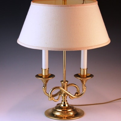 Antique floor lamps table lamps and light fixtures auction in baldwin brass dual arm desk lamp aloadofball Image collections