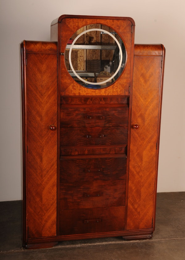 1930 39 s art deco armoire ebth. Black Bedroom Furniture Sets. Home Design Ideas