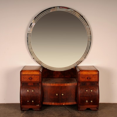 1930s art deco vanity mirror