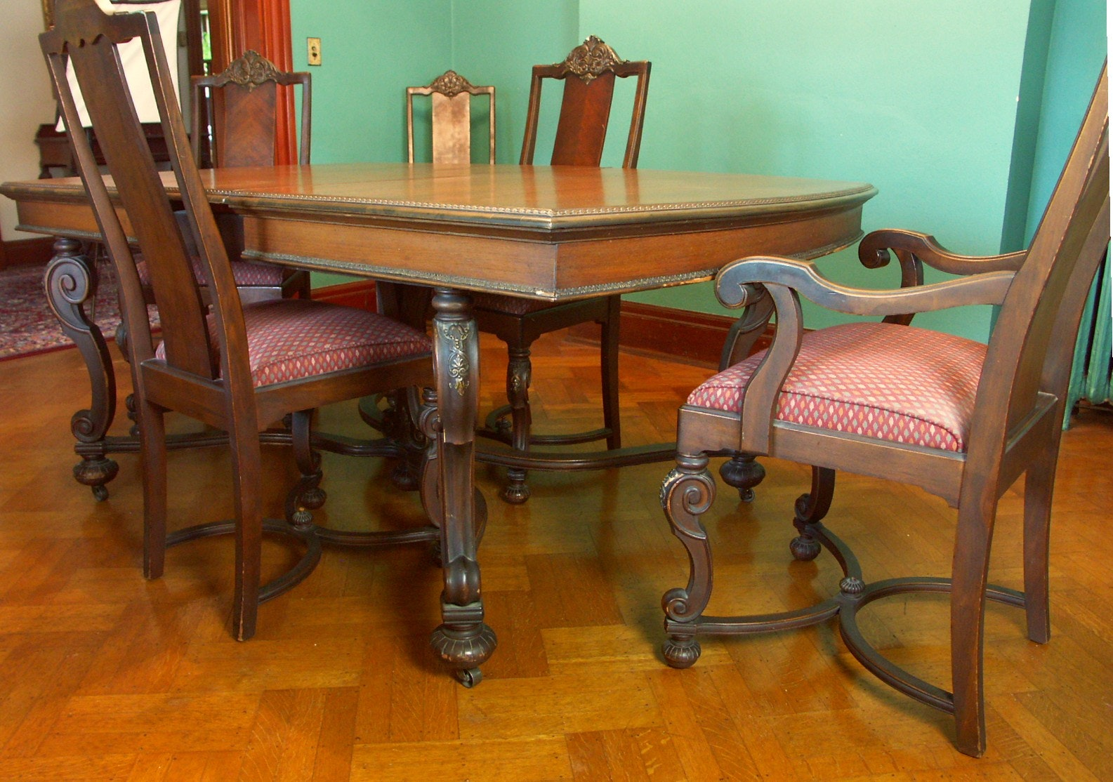 Marvelous Robert Mitchell Table And 6 Chairs ...