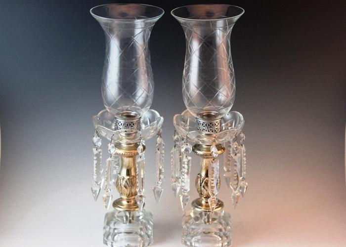 Crystal Prism Candleholders