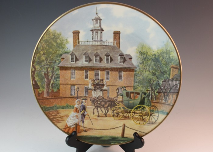 Williamsburg Virginia Decorative Plate American Commemorative Council Southern Landmark Series Governors Palace