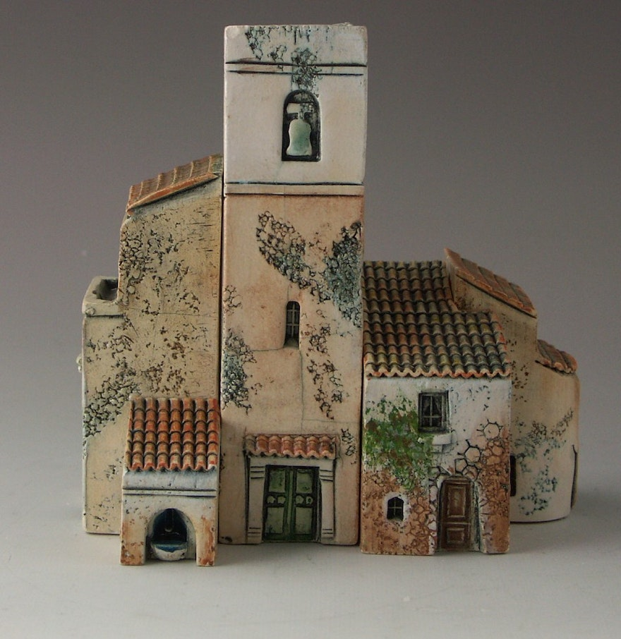 Gault ceramic french miniature buildings ebth for Miniature architecture
