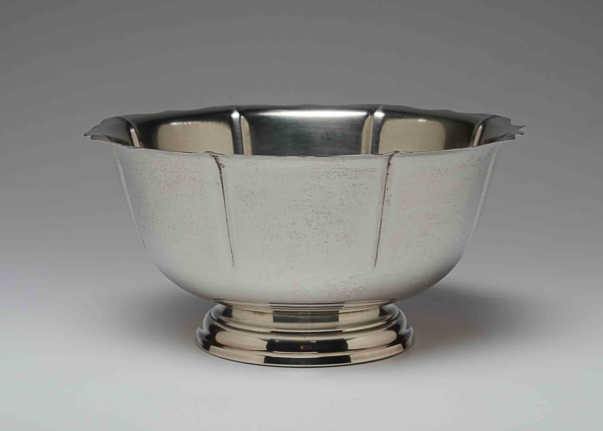 Sterling Serving Bowl With Scalloped Edge