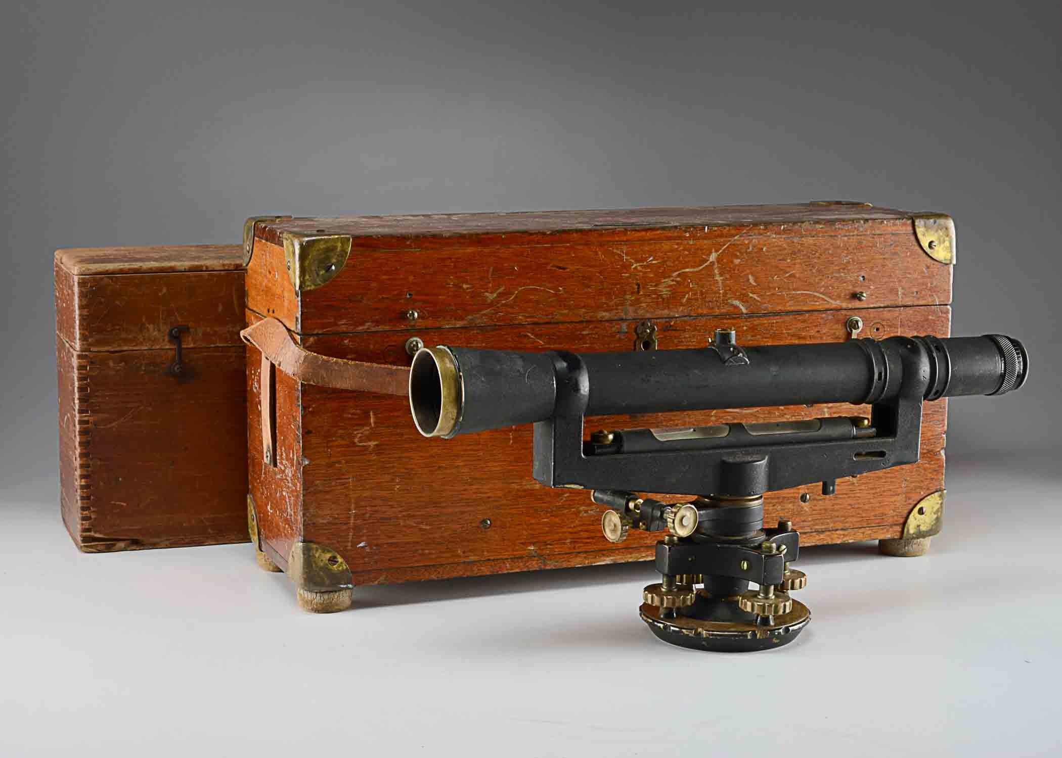 David White Co. Surveyor Transit with Original Case