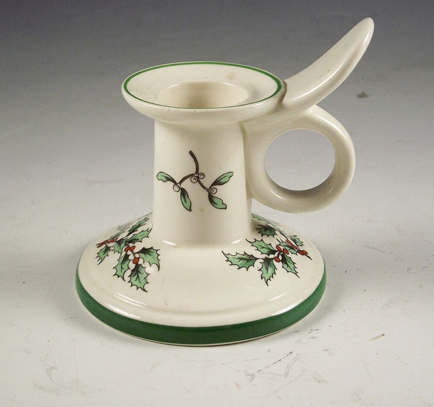 "Spode Christmas Tree Candle Holder: Spode ""Christmas Tree"" Candle Holders."