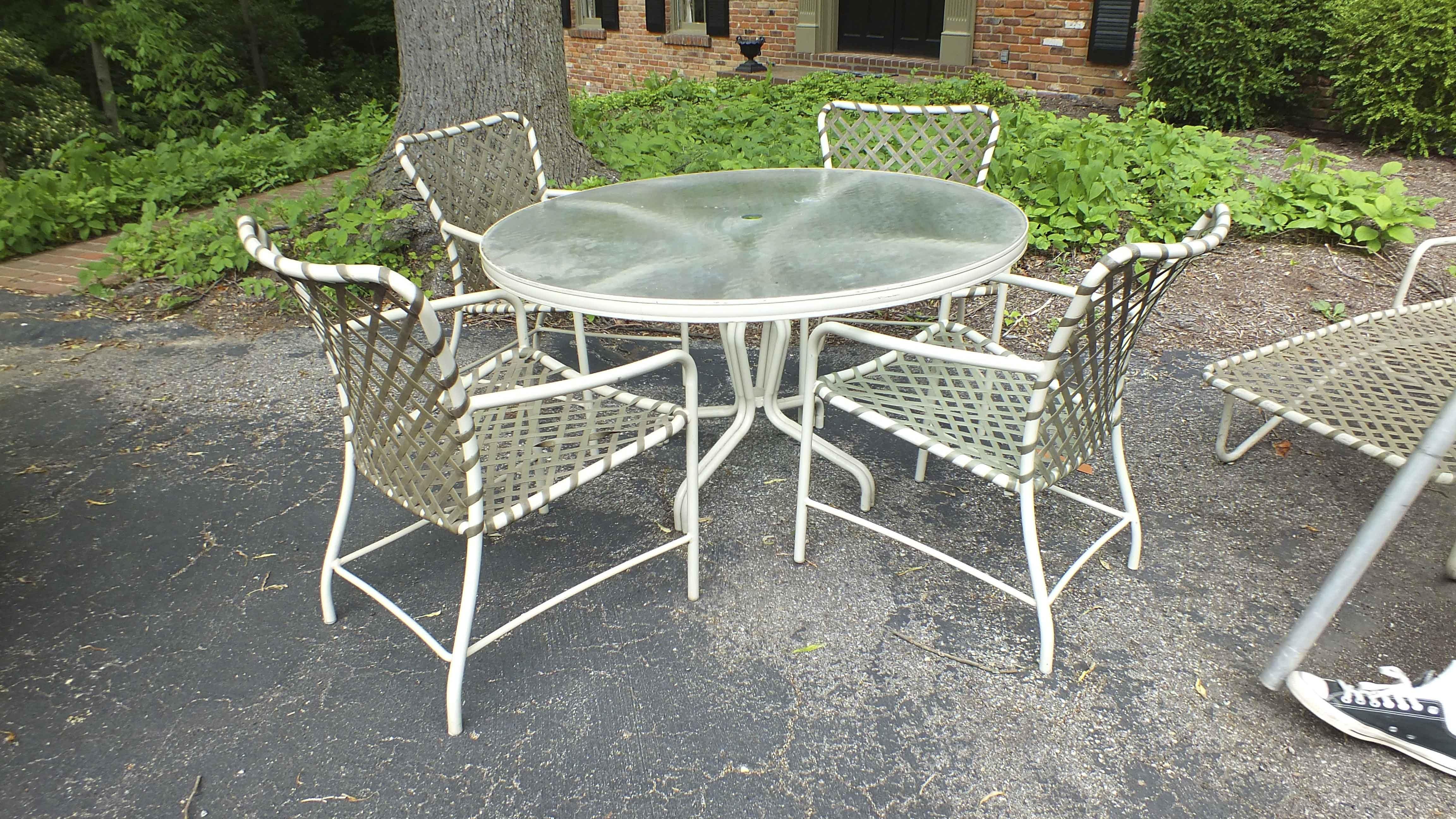 brown patio furniture ebth