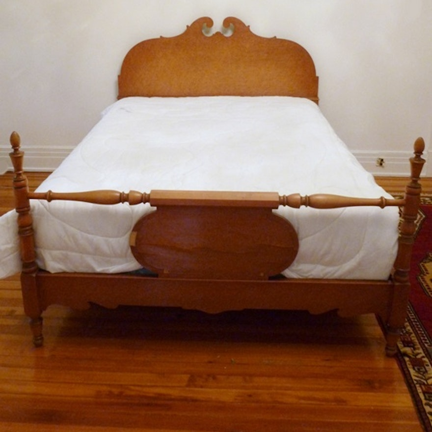 Vintage Birdseye Maple Double Bed