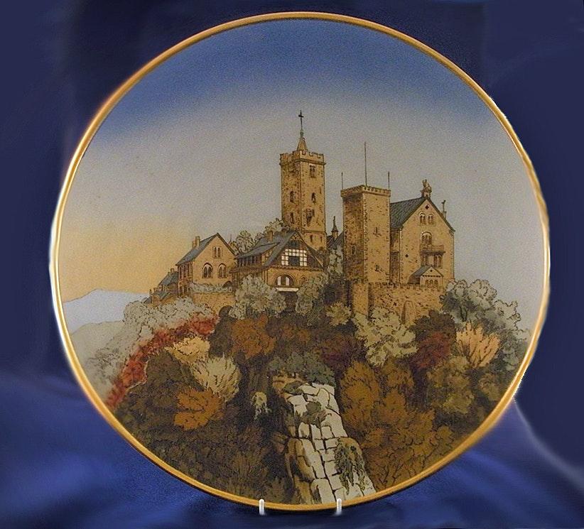 Villeroy Und Boch Mettlach mettlach villeroy and boch plate wartburg castle ebth