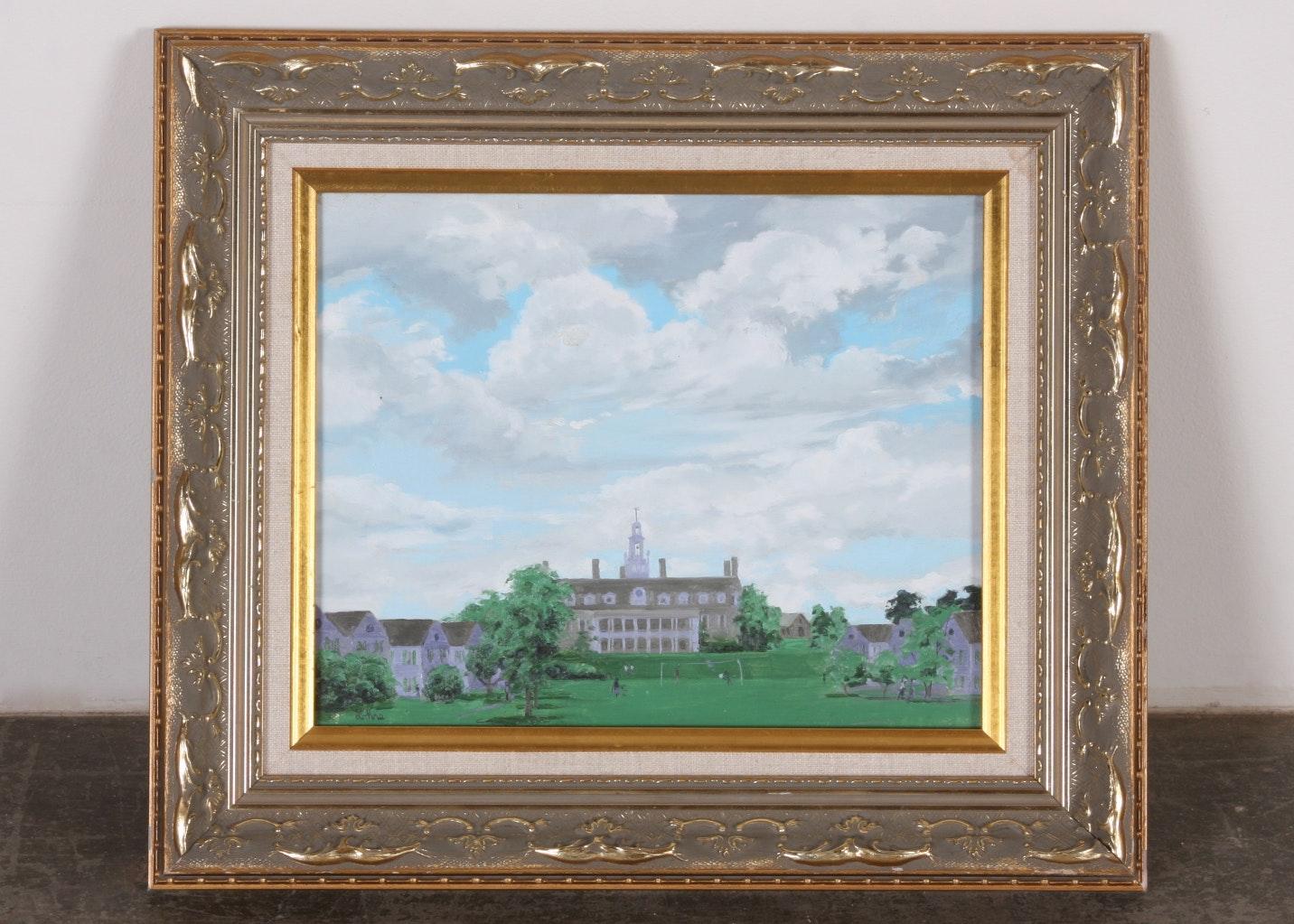 Original Tom Lohre Oil on Canvas Painting
