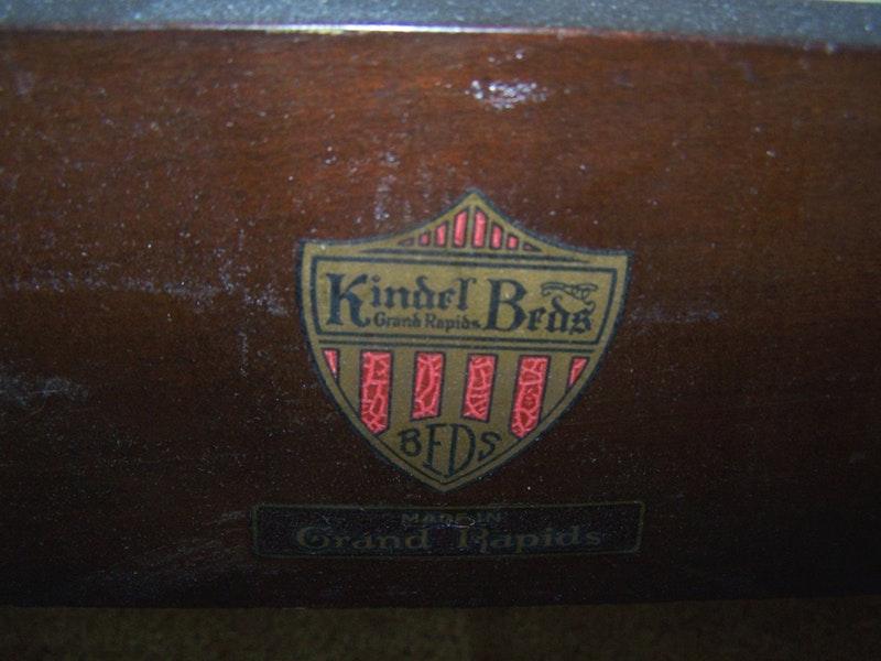 Kindel Wood Bed Amp Linens Ebth