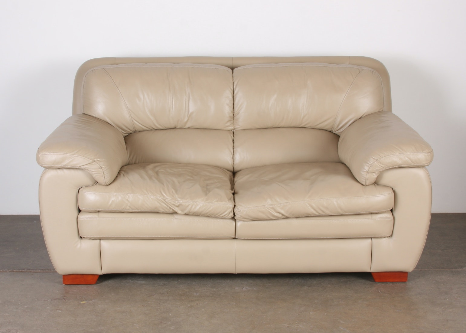 Awesome Leather Loveseat By Superb Creations ...
