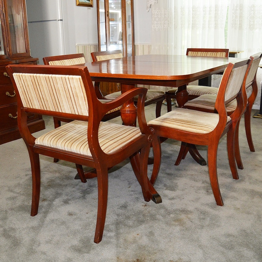 Duncan Phyfe Dining Room Set: Duncan Phyfe Style Cherry Dining Room Table And Chairs. : EBTH