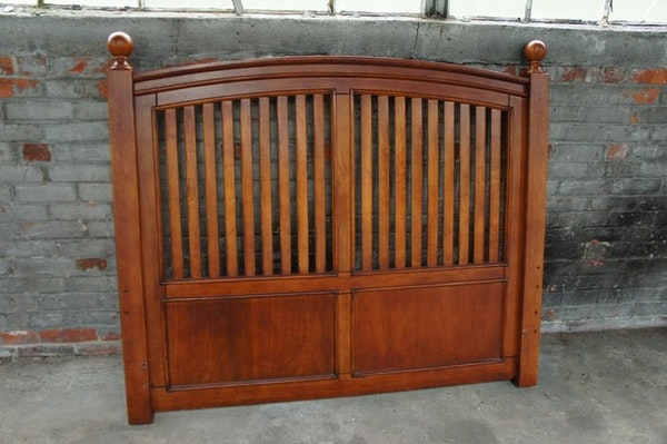 cherry wood full size headboard ebth. Black Bedroom Furniture Sets. Home Design Ideas