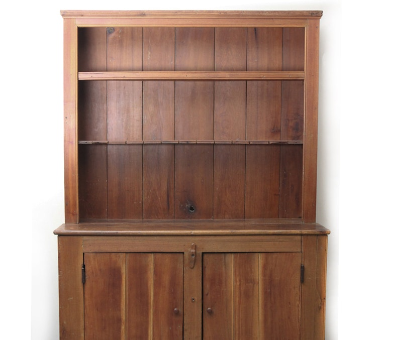 Primitive Pine Open Cupboard, circa 1860