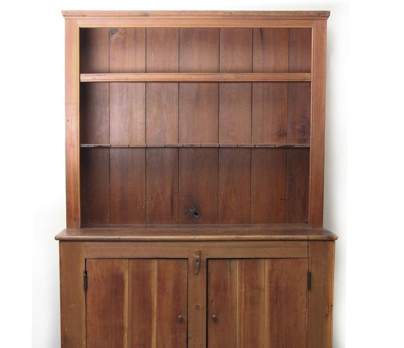 Primitive Pine Open Cupboard, circa 1860