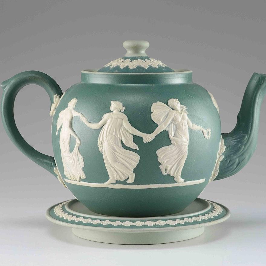 Dudson Bros. English Jasperware Teapot : EBTH