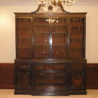 Chippendale Breakfront Bookcase - Vintage Desks, Antique Desks And Used Desks Auction In Cincinnati