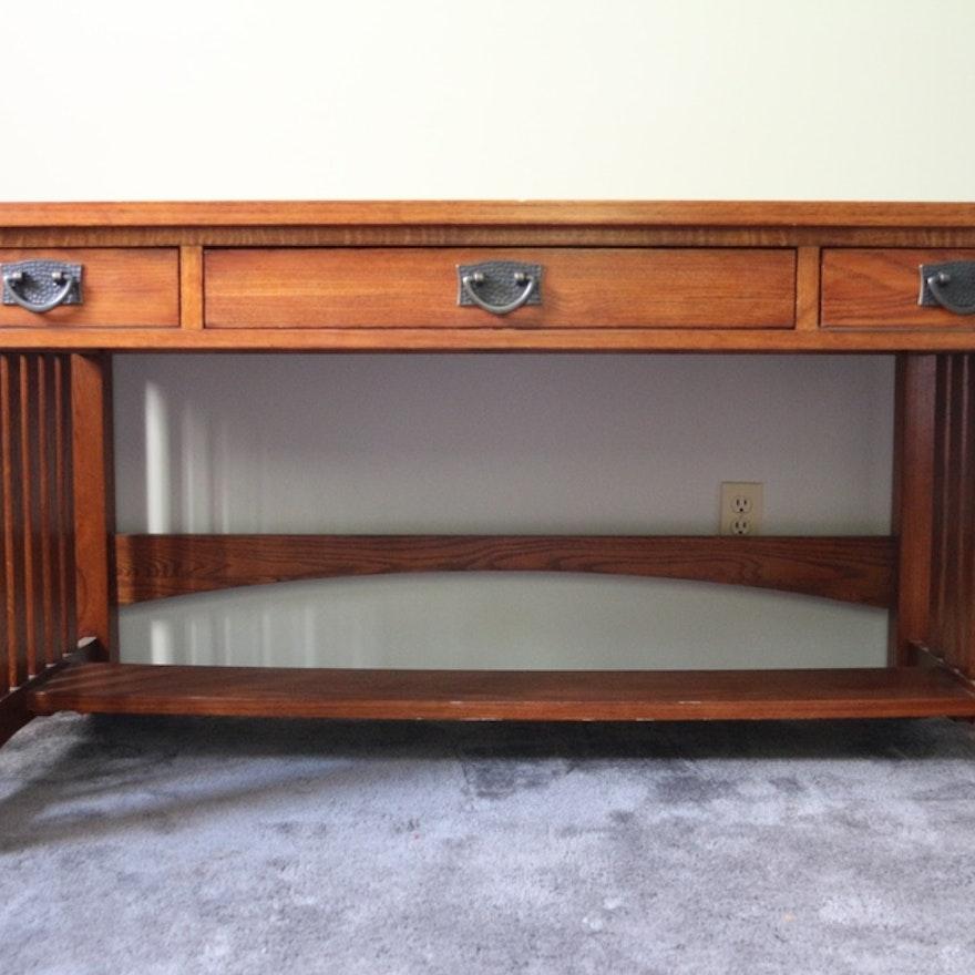 quarter style desks oak executive mission office desk for by co moutard home sale