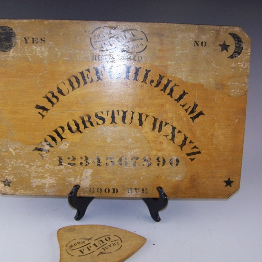 Vintage Ouija Board And Planchette Ebth