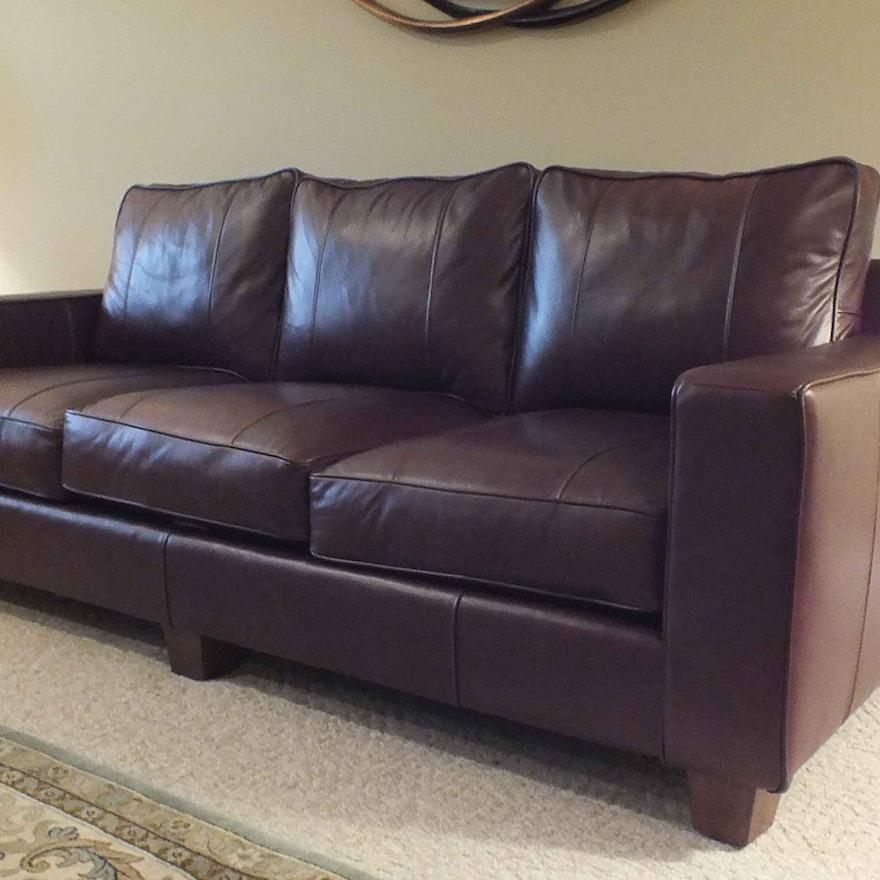 Ethan Allen Beacon Square Coffee Table: Norwalk Leather Sofa Norwalk Furniture Interior